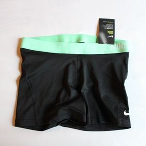 Nike Pro dri-fit shorts mint band